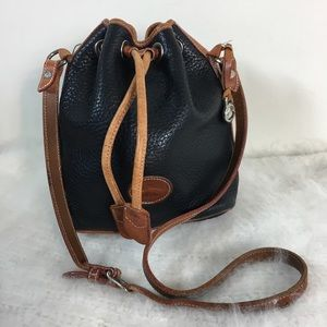 Dooney and Bourke all weather leather bucket bag